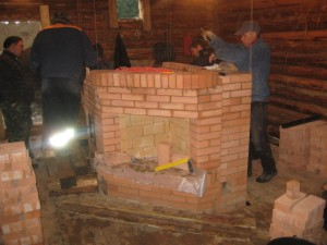 02 Банная печь Руссауна с угловым камином