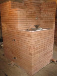05 Банная печь - вид из парной